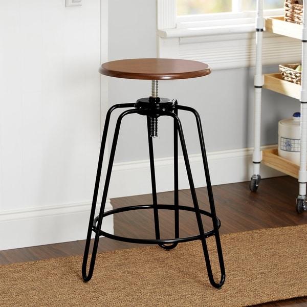 Shop Adjustable Height Hairpin Leg Stool Free Shipping