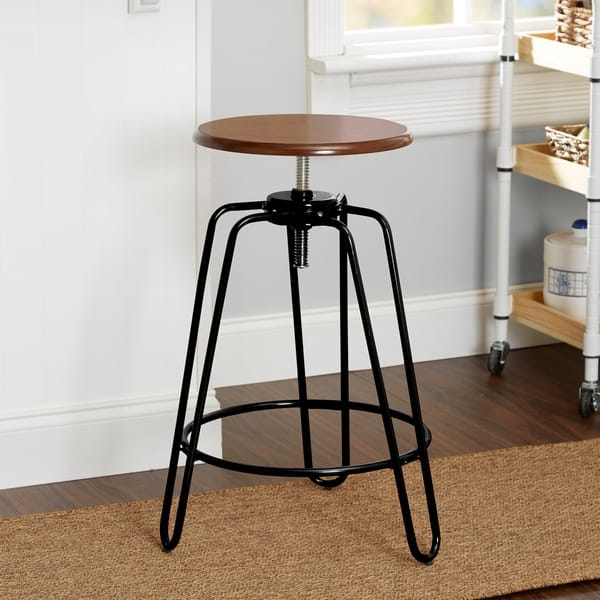 Marvelous Shop Adjustable Height Hairpin Leg Stool Free Shipping On Pdpeps Interior Chair Design Pdpepsorg