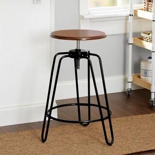 Adjustable-Height Hairpin Leg Stool