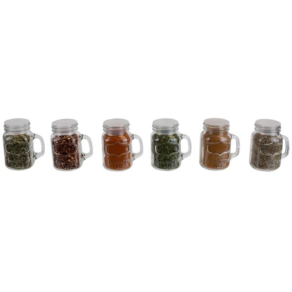 Shop 6 Piece Glass Spice And Seasoning Jar Set With Clear