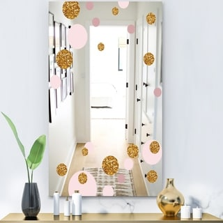 Designart 'Circular Rhythm 4' Glam Mirror - Decorative or Modern Vanity Mirror - Gold