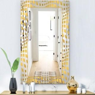 Designart 'Capital Gold Essential 7' Glam Mirror - Modern Vanity Mirror
