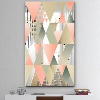Designart 'Tropical Mood Pink 1' Mid-Century Mirror - Modern Accent Mirror