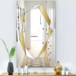 Designart 'Capital Gold Essential 10' Glam Mirror - Modern Vanity Mirror