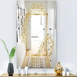 Designart 'Capital Gold Sparkle 22' Glam Mirror - Modern Vanity Mirror