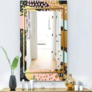 Designart 'Playful Gold 4' Glam Mirror - Modern Vanity Mirror