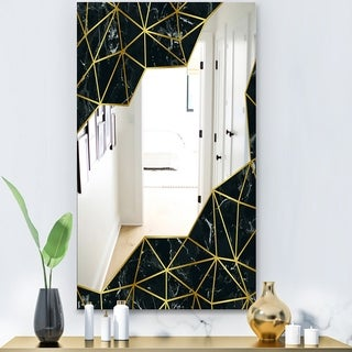Designart 'Capital Gold Sleek 11' Glam Mirror - Vanity Mirror