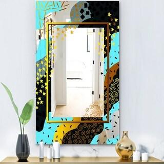 Designart 'Playful Gold 3' Glam Mirror - Modern Vanity Mirror