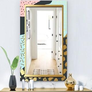 Designart 'Playful Gold 2' Glam Mirror - Modern Vanity Mirror