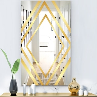 Designart 'Capital Gold Essential 21' Glam Mirror - Modern Decorative Mirror