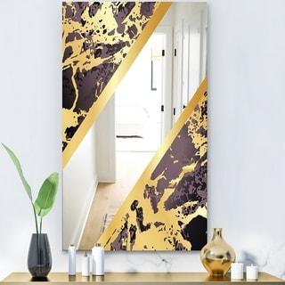 Designart 'Capital Gold Sleek 14' Glam Mirror - Decorative Modern Mirror