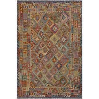 "Kilim Ramiro Blue/Beige Hand-Woven Wool Rug -6'7 x 9'11 - 6'7"" x 9'11"""