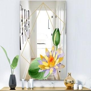 Designart 'Efflorescent Gold Simple 10' Modern Mirror - Wall Mirror
