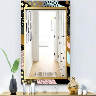 Designart 'Playful Gold 6' Glam Mirror - Modern Vanity Mirror
