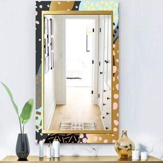 Designart 'Playful Gold 5' Glam Vanity Mirror - Modern Vanity Mirror