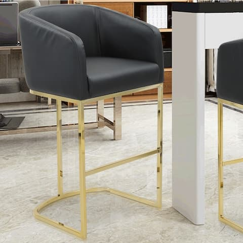 Chic Home Easly PU Leather Upholstered Bar Stool/Counter Stool Chair