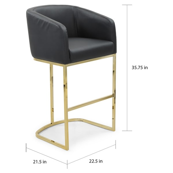 Silver Orchid Bonner Upholstered Bar Stool/Counter Stool Chair