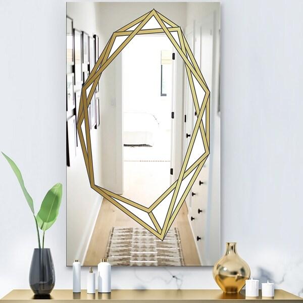 Designart 'Capital Gold Essential 12' Glam Mirror - Wall Mirror
