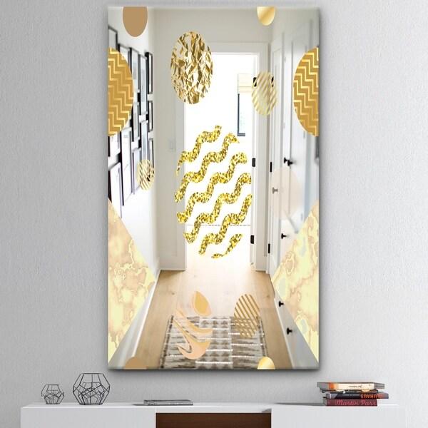 Designart 'Capital Gold Lively 6' Mid-Century Mirror - Modern Accent Mirror