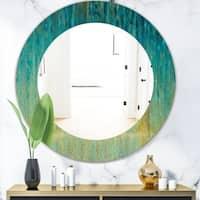 Porch & Den 'Rain Abstract Panel' Modern Bathroom Mirror