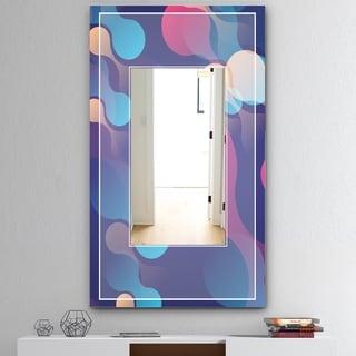 Designart 'Lava Reunion' Mid-Century Mirror - Vanity Mirror - Blue