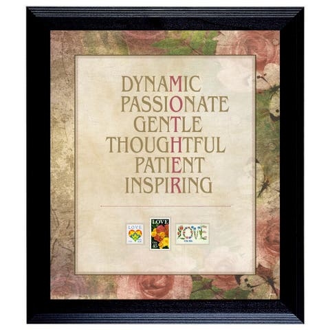 Mother Word Art United States Postage Love Stamp Frame - 14 x 16