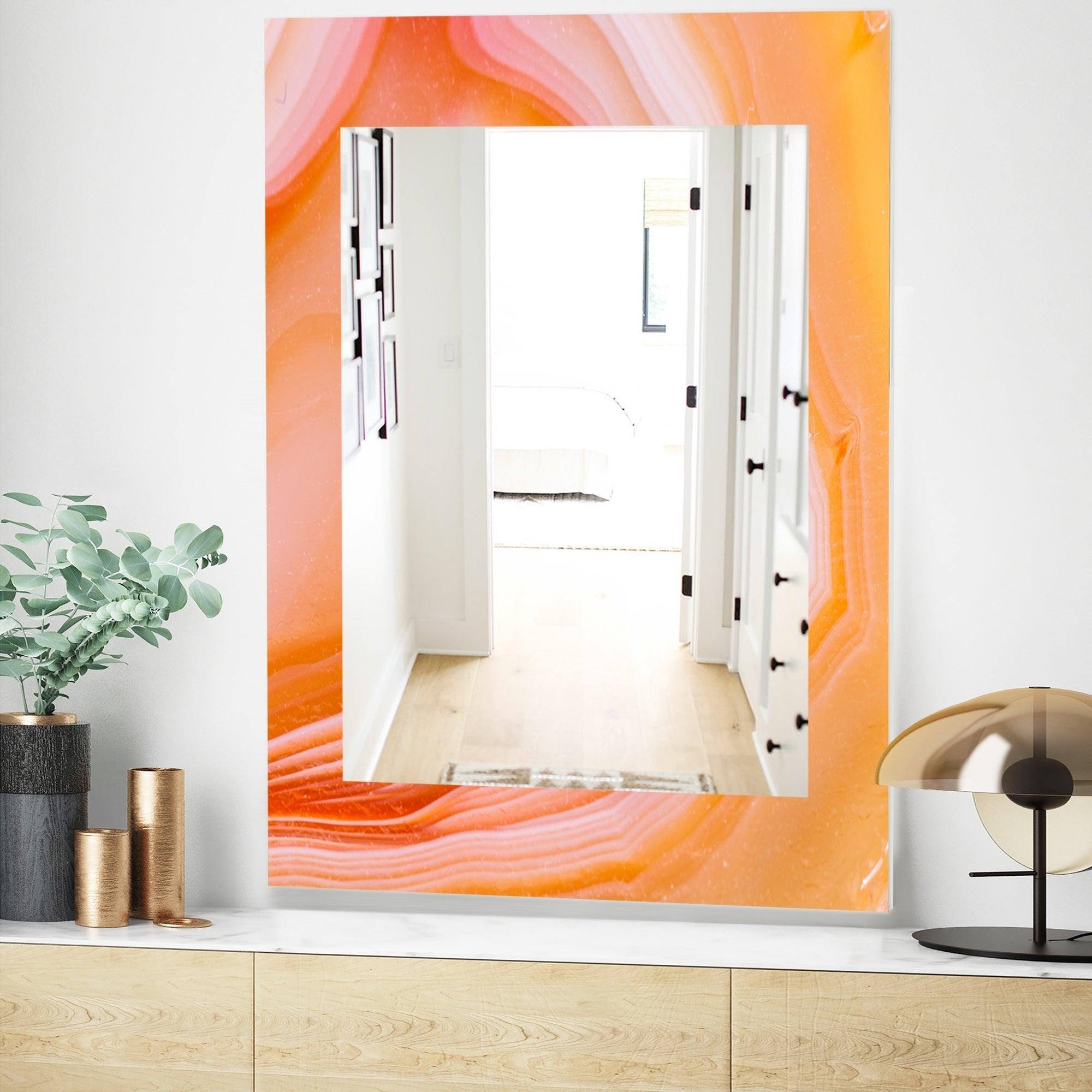 Details About Designart Marbled Geode 10 Mid Century Modern Mirror