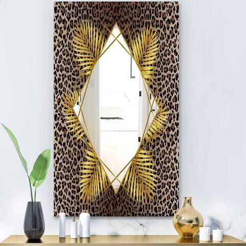 Designart 'Leopard 5' Glam Mirror - Modern Large Wall Mirror