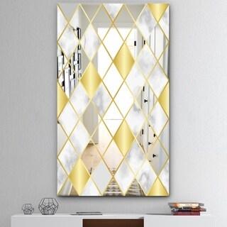 Silver Orchid Allen Mid-century Mirror - Gold