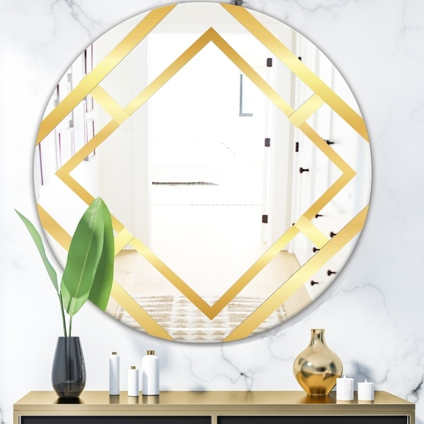 Designart 'Capital Gold Essential 5' Glam Oval Mirror - Oval or Round Wall Mirror