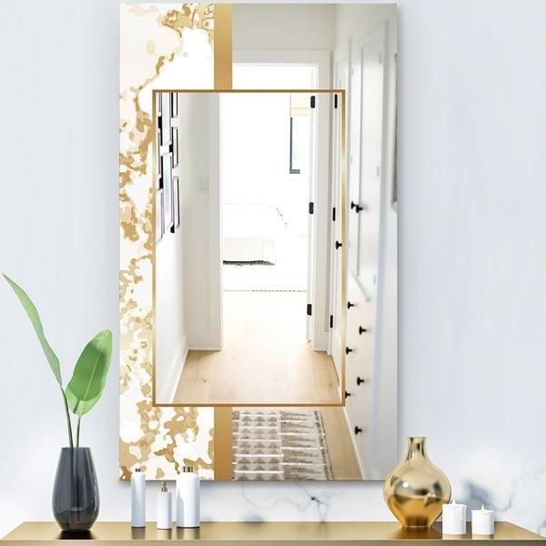 Designart 'Capital Gold Essential 16' Glam Mirror - Ultra Modern Mirror