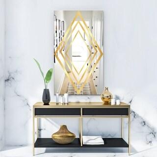 Designart 'Copper Spruce 5' Glam Mirror - Modern Accent Mirror - Gold