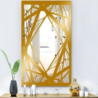 Designart 'Capital Gold Jangle 3' Glam Mirror - Modern Accent Mirror