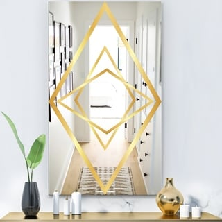 Designart 'Capital Gold Essential 20' Glam Mirror - Modern Wall Mirror