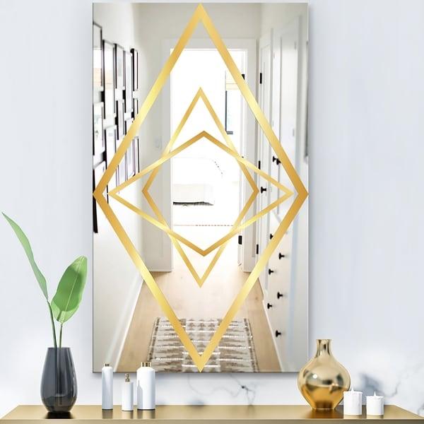 Designart 'Capital Gold Essential 20' Glam Mirror - Modern Wall Mirror