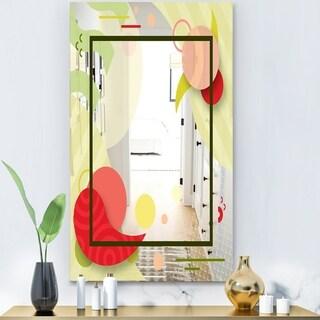 Designart 'Groovy Jungle 16' Modern Mirror - Wall Mirror - Red