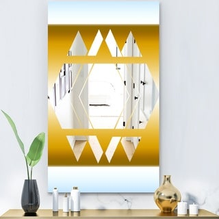 Designart 'Capital Gold Essential 18' Glam Mirror - Decorative Modern Mirror
