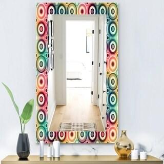Designart 'Circular Dance 8' Modern Mirror - Frameless Wall Mirror - Gold