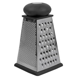 Triangle Cheese Grater with Rubber Base, Black
