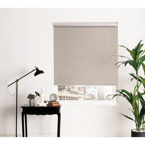 Brielle Home Sheer Open Weave Cordless Roller Shade