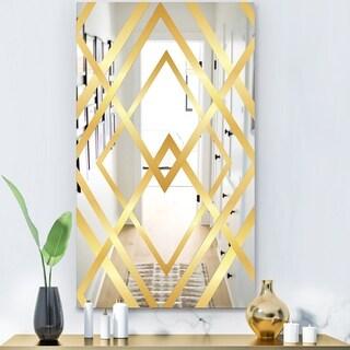 Designart 'Capital Gold Essential 26' Glam Mirror - Decorative Modern Mirror