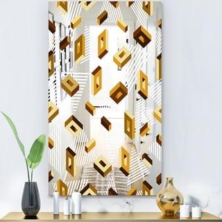 Designart 'Capital Gold Lively 8' Glam Mirror - Decorative Modern Mirror