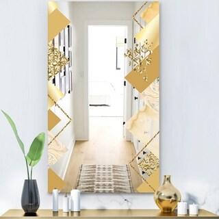 Designart 'Capital Gold Diamond 3' Glam Mirror - Modern Vanity Mirror