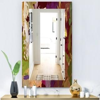 Designart 'Psychedelic Matte' Modern Mirror - Frameless Wall Mirror - Purple
