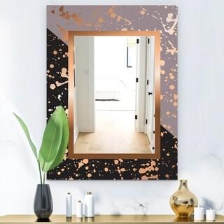Designart 'Playful Gold 7' Glam Mirror - Modern Vanity Mirror