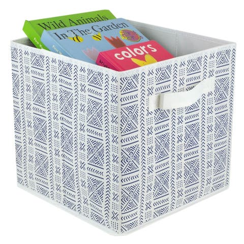 Aztec Collapsible Non-Woven Storage Cube, Navy