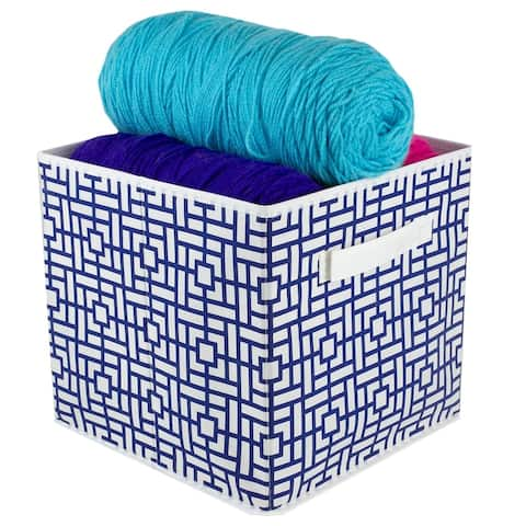 Squared Collapsible Non-Woven Storage Cube, Navy