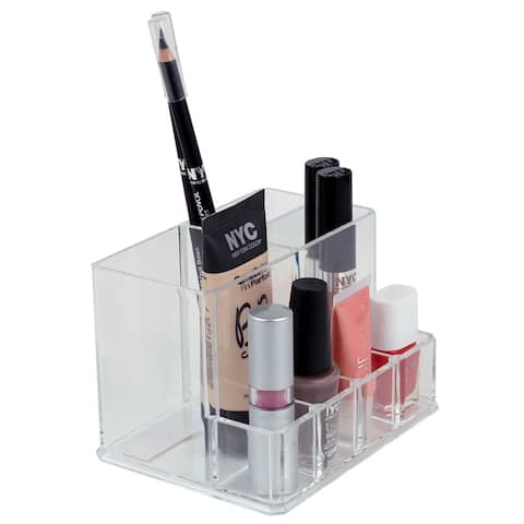 Compact Shatter-Resistant Plastic Cosmetic Organizer, Clear