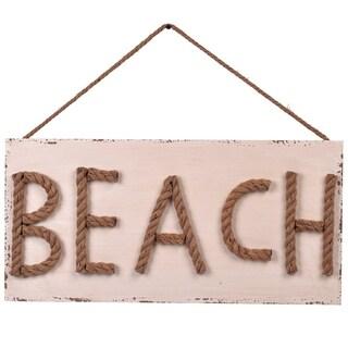 BEACH Roped Wood Art