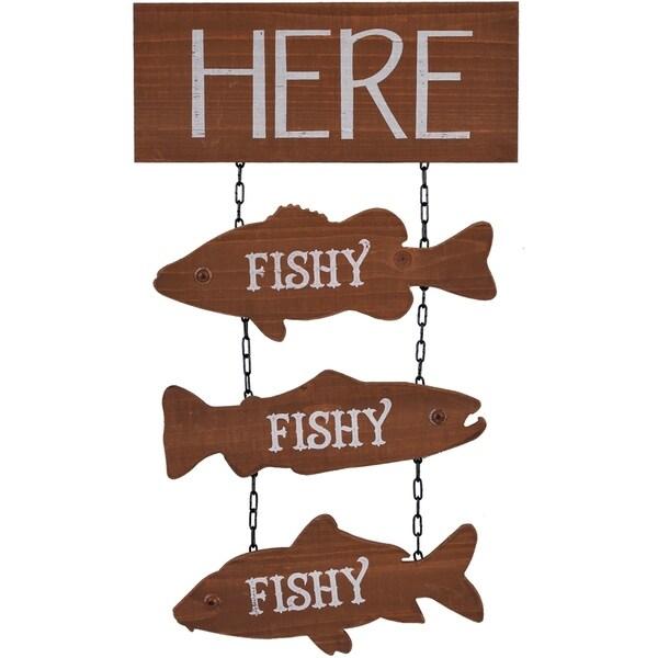 Fish Hanging Wood Sign